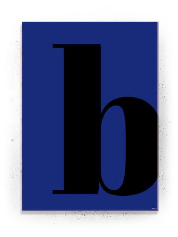 Bogstavet B (Typografi) - plakat eller Lærredsprint