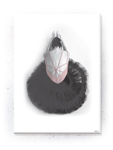 Plakat / Canvas / Akustik: Ballerina II (Flush Pink)