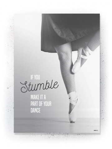 Plakat / Canvas / Akustik: Ballet Danser (Black)