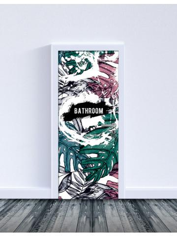 Selvklæbende Laminat: Bathroom Door 1 (Til indvendige døre).