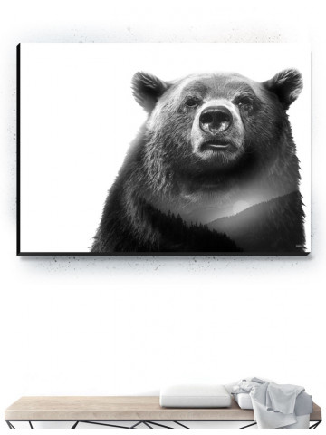 Plakat / Canvas / Akustik: Bear 2 / Panorama (Animals)