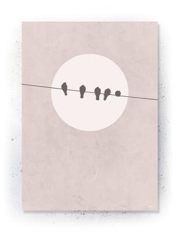 Plakat / canvas / akustik: Always kiss good night (Faded)