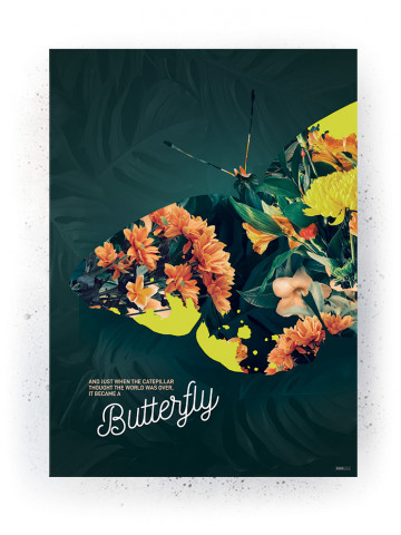 Plakat / Canvas / Akustik: Butterfly (Yellow spring)