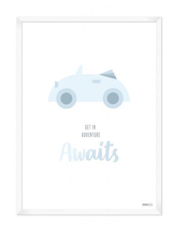 Plakat: Bil (Drengeværelset)