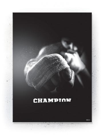 Plakat / Canvas / Akustik: Champion (Black)