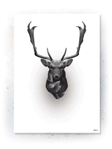 Plakat / Canvas / Akustik: Crown Deer (Black)