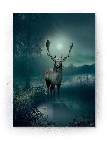 Plakat / canvas / akustik: Crown Deer (Earth)