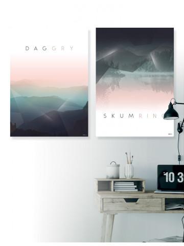 Plakat/Canvas sæt: Daggry & Skumring (Bright)