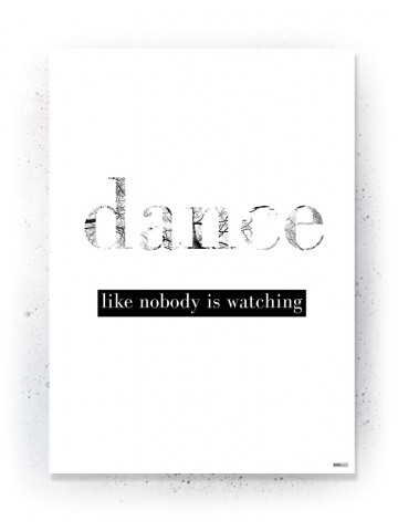 Plakat / Canvas / Akustik: Dance (Quote Me)