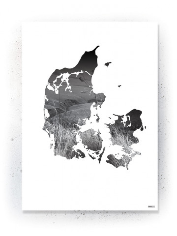 Plakat / Canvas / Akustik: Danmark (Black)