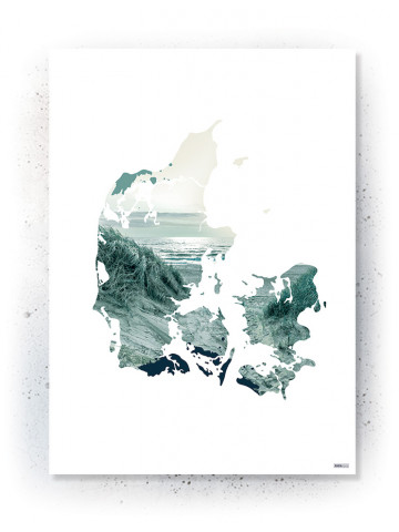 Plakat / Canvas: Denmark (VIVID)