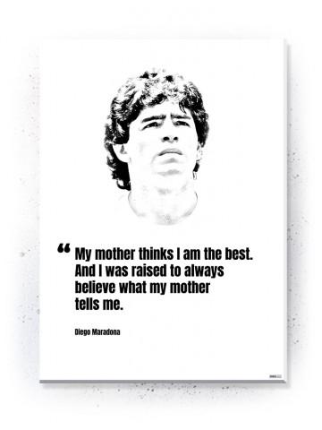 Plakat / Canvas / Akustik: Diego Maradona (Quote Me)