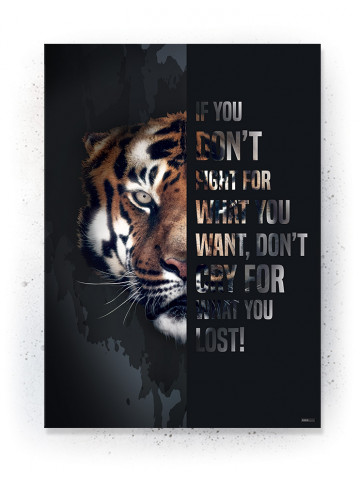 Plakat / Canvas / Akustik: Don't Cry for what you Lost (Quote Me)