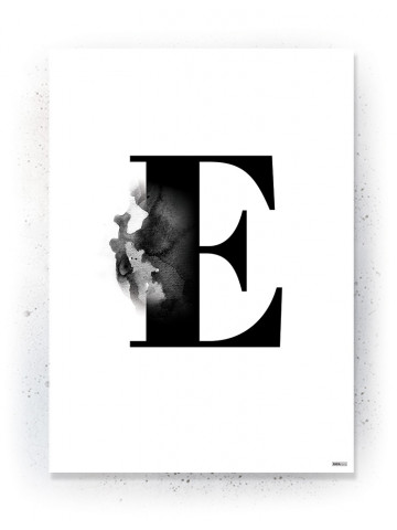 Plakat / Canvas / Akustik: Bogstav E (Black)