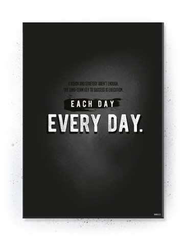 Plakat / Canvas / Akustik: Each Day. Every Day (Quote Me)
