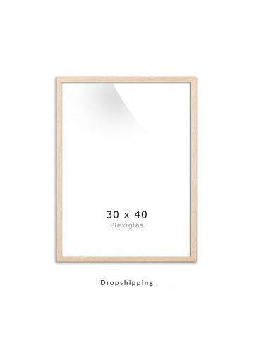 Dropshipping / Ramme: Eg (look) 30x40cm