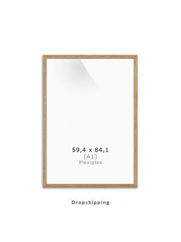 Dropshipping / Ramme: Eg (Massive) 60x84cm