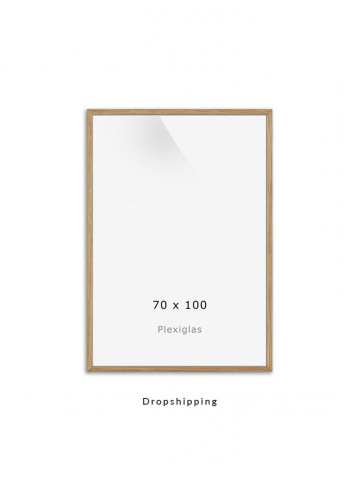 Dropshipping / Ramme: Eg (Look) 70x100cm