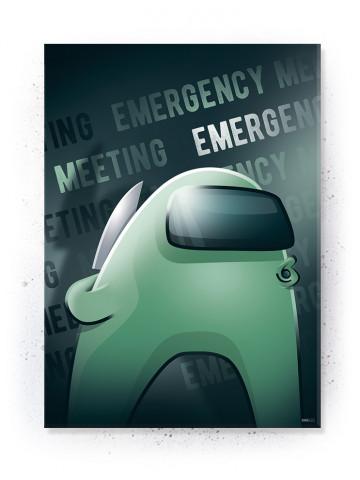 Plakat / Canvas / Akustik: Emergency Meeting / Among Us (Gamer)