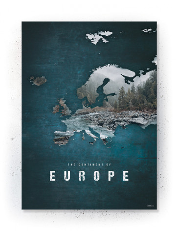 Plakat / canvas / akustik: Europa (Continents of the World)