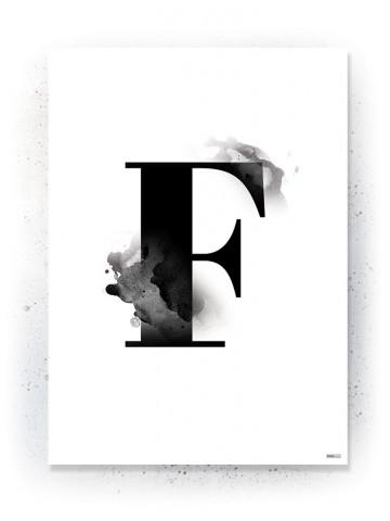 Plakat / Canvas / Akustik: Bogstavet F (Black)