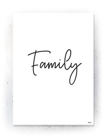 Plakat / Canvas / Akustik: Family (Quote Me)
