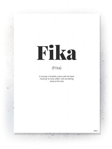 Plakat / Canvas / Akustik: Fika (Quote Me)