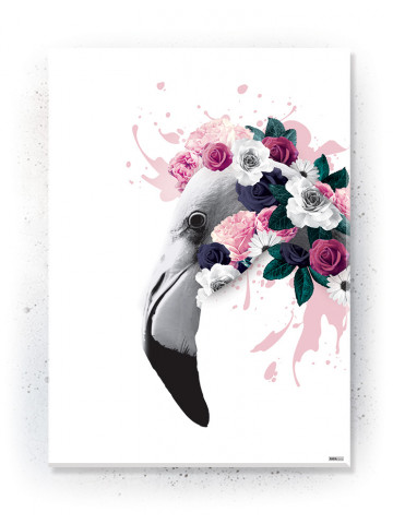 Plakat / Canvas / Akustik: Flamingo (Floral)