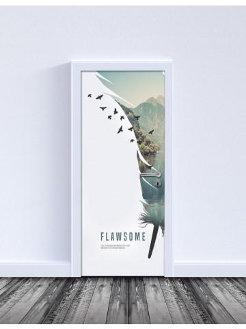 Selvklæbende Laminat: Flawsome / Nature (Til indvendige døre).