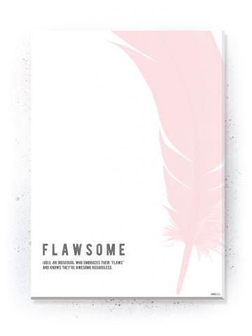Plakat / Canvas / Akustik: Flawsome (Flush Pink)