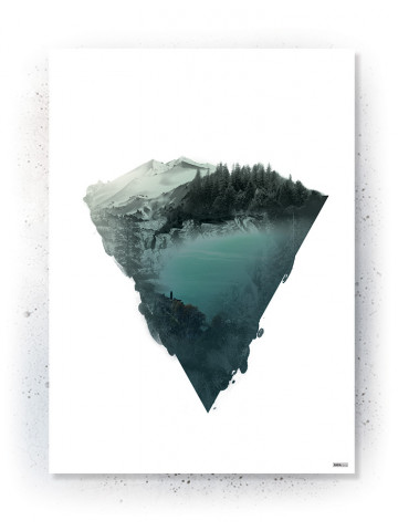 Plakat / Canvas: Floating mountain (VIVID)