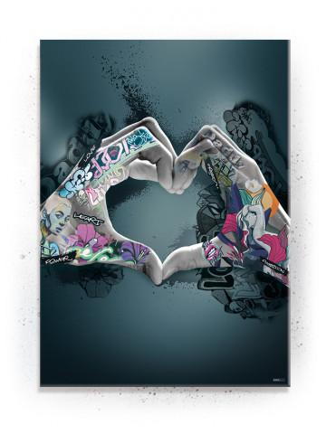Plakat / Canvas / Akustik: Hands making Heart (Statements)