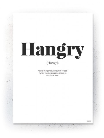 Plakat / Canvas / Akustik: Hangry (Quote Me)