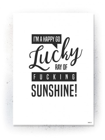 Plakat / Canvas / Akustik: I'm a happy go lucky (Quote Me)