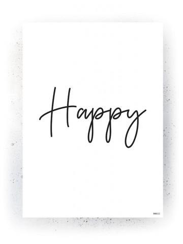 Plakat / Canvas / Akustik: Happy (Quote Me)
