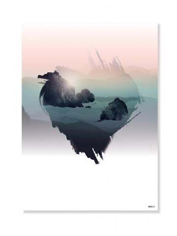 Plakat/Canvas: Heart of the Ocean (Bright)