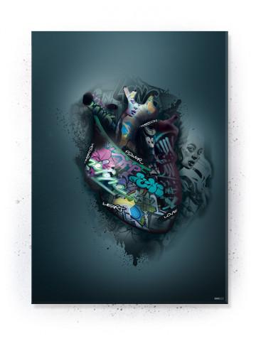 Plakat / Canvas / Akustik: Heartbeat (Statements)