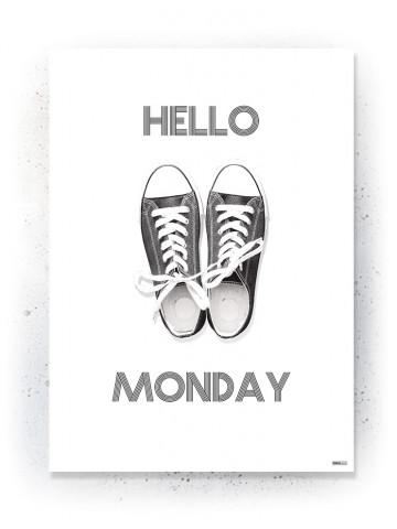 Plakat / Canvas / Akustik: Hello Monday (Black)