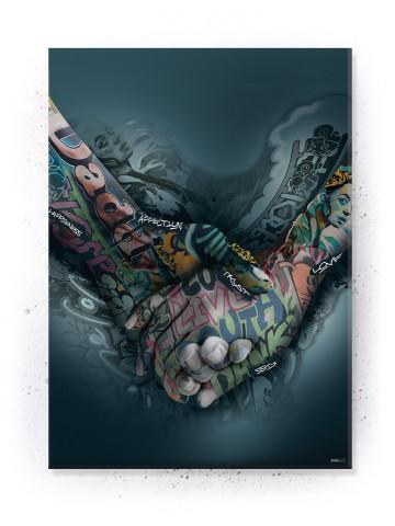 Plakat / Canvas / Akustik: Holding Hands II (Statements)
