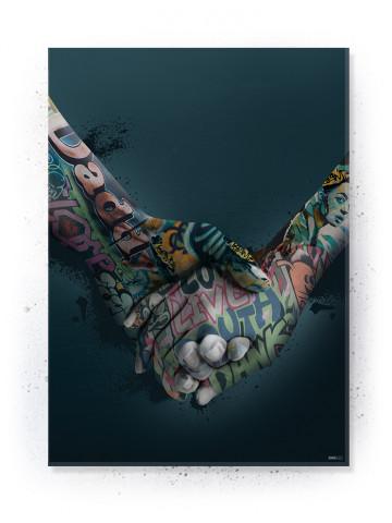 Plakat / Canvas / Akustik: Holding Hands (Statements)