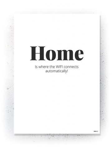 Plakat / Canvas / Akustik: Home (Quote Me)