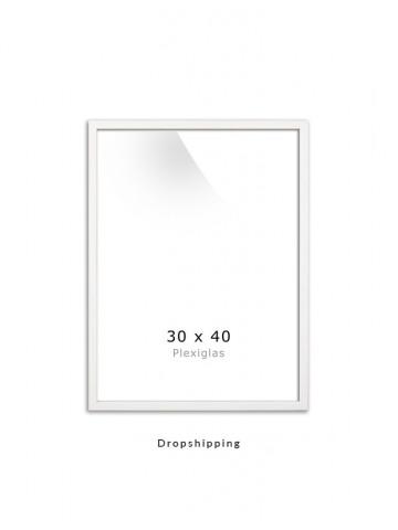 Dropshipping / Ramme: Hvid 30x40cm