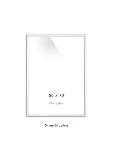 Dropshipping / Ramme: Hvid 50x70cm