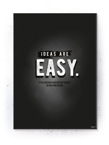 Plakat / Canvas / Akustik: Ideas are Easy (Quote Me)