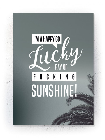 Plakat / Canvas / Akustik: Happy Go Lucky (Thoughts)