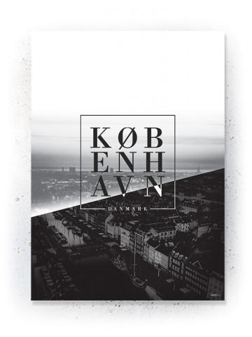 Plakat / Canvas / Akustik: København / Tekst (Black)