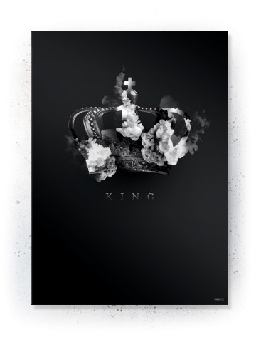 Plakat / Canvas / Akustik: KING (Black)