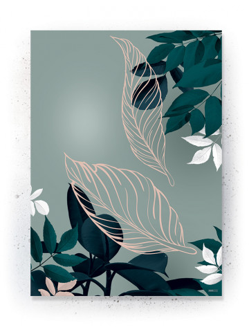 Plakat / CANVAS: Leaves 2 (Earth)