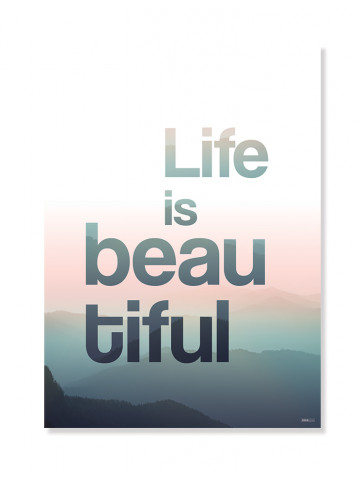 Plakat/Canvas: Life is beautiful (Bright)