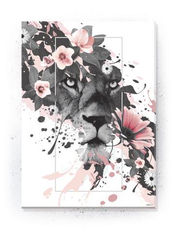 Plakat / Canvas / Akustik: Lions (Flush Pink)